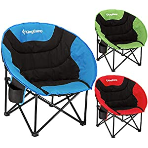 KingCamp Moon Chair Easy Up Campingstuhl bis 120 kg belastbar mit Seitentasche