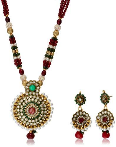 Bentex Kundan Pendant Set For Women nkk0029 image - Kerala Online Shopping