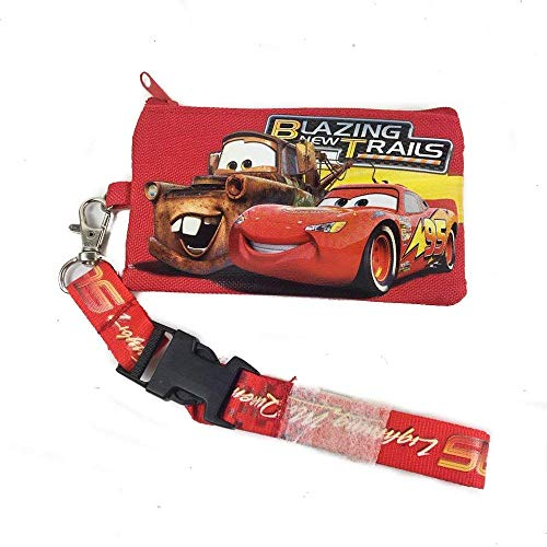 Disney Lanyard & ID Holders with Coin Purse (Blue Car) (Disney Cars Lanyards)