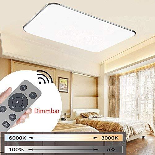 MYHOO 72W ultra sottile LED plafoniera Regolabile moderno lampada da soffitto per soggiorno, cucina, camera, bagno, hotel [Classe di efficienza energetica A++]
