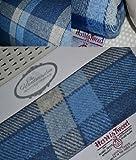 Harris Tweed Stoff 100% reine Schurwolle blau Tartan M