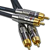 DCSk Stereo Cinch Audiokabel NF Audio MK II - OFC - 3-fach geschirmt - 0,7m