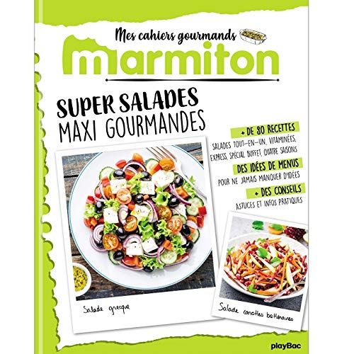 Marmiton Cahier gourmand Super Salades par  (Broché - May 22, 2019)
