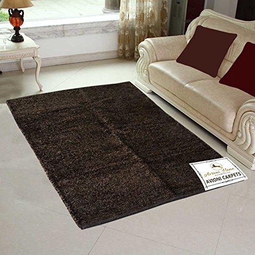 Avioni Handloom Rugs For Living Room Solid Colors Reversible -3 Feet X 5 Feet