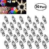 Vanble 30pz Impermeabile LED Palloncini luci per Lanterne di Carta Palloncini Decorazione (30) (calda)