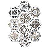 Marokko Stil Fußboden Fliesenaufkleber Wasserdicht Twill-Film Wandtattoos Zum Bad Küche 20 * 23cm 10 Stück (Farbe : A)