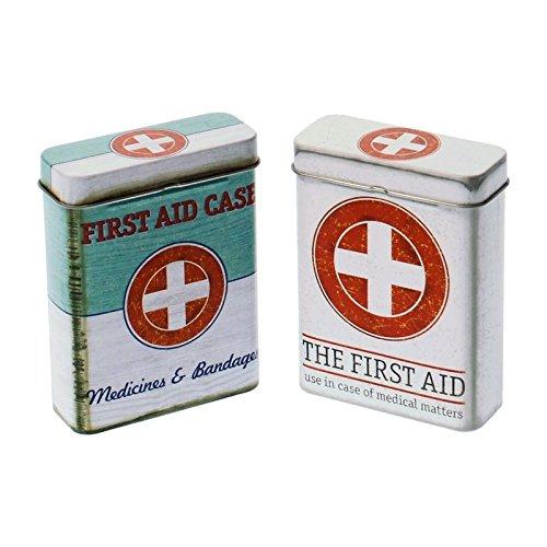 Abbildung: First Aid Case Zigarettendose - Erste Hilfe Zigarettenbox Zigarettenetui Metalldose