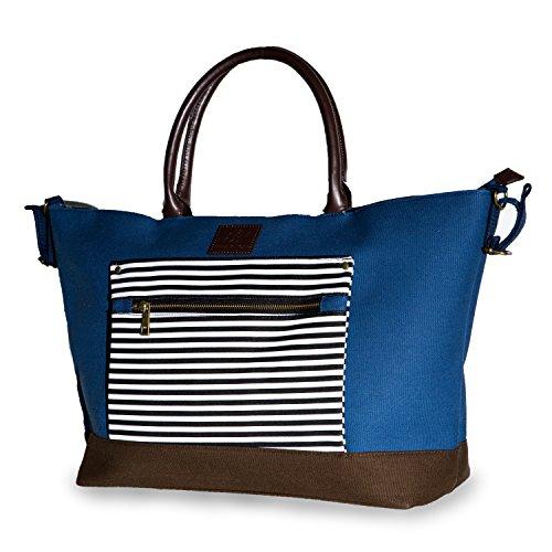 Emma & noah borsa fasciatoio, 12 scomparti, includendo supporto per fasciatoio, fissaggio passeggino, colore: blu, ideale come borsa cambio pannolino, borsa neonato grande, borsa nascita (blu)