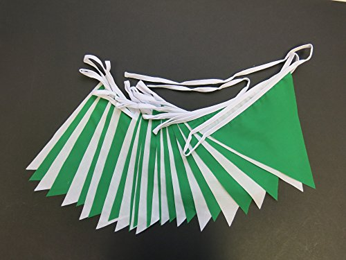 Green and White St Patrick's Day Irish Bunting - 10m Single Sided Bunting