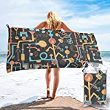 BlueTop Pipe Dreams Dark Orange Beach Quick Drying Towel Microfiber Yoga Fitness Absorbent Towel Outdoor Climbing Quick Drying Towel