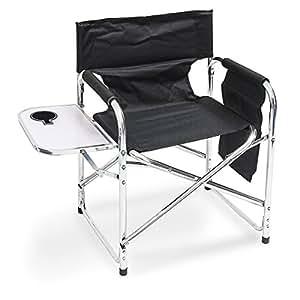 Chaise pliante de camping avec table inclinable