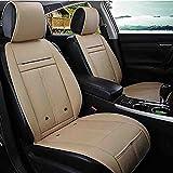XIAOYA Auto Sitzkissen Beheizbar Sitzauflage Mit Heizung- Und Kühlungfunktion Und 3D Belüfteten Löchern Tragbar Für Auto Zuhause Ganzjährige Benutzung,Beige,24V