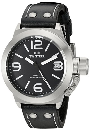 TW STEEL CANTEEN LEATHER - RELOJ DE PULSERA