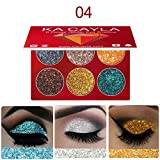 MERICAL KA Cayla Maquillage Ombre à paupières Palette de Fard à paupières cosmétique Fard à paupières 6 Couleurs