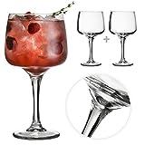 Tuff Luv M218 El Fantastico Copa Gin und Tonic Balloon Gläser Für Cocktails Und Geschenkbox - Packung Mit 2 Stück - Groß [600 ml]
