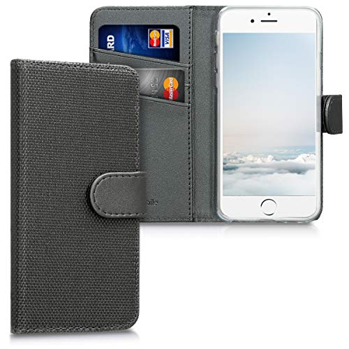 kwmobile Apple iPhone 6 / 6S Hülle - Nylon Handyhülle Wallet Handy Case für Apple iPhone 6 / 6S mit Standfunktion