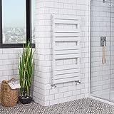 WarmeHaus Designer Handtuchheizkörper Badheizkörper 1200x600mm Weiß
