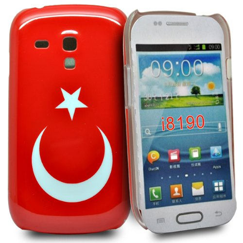Accessory Master Turkey flag Hardcover für Samsung Galaxy S3 mini i8190 rot
