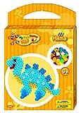Hama 8766 - Maxi Bügelperlen kleine Geschenkpackung Dino, ca. 350 Perlen, 1 transparente Stiftplatte und Zubehör