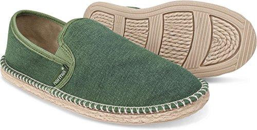 normani Sommer Schuhe - Klassische Espadrillas - Flache Stoffschuhe - Freizeitschuhe für Damen und Herren [Gr. 36-46] Farbe Khaki Style 1 Größe 42