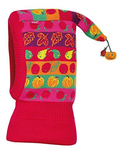 maximo Mädchen Mütze Schlupfmütze Früchtchen mit Zipfel, Gr. 49 cm, Mehrfarbig (dunkelpink/golf 5713)