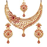#6: I Jewels Gold Plated Jewellery Set with Maang Tikka For Women (M4060Q)