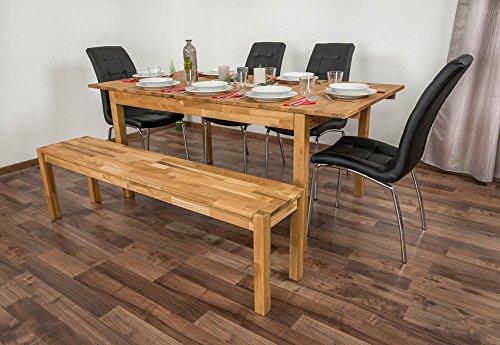 Esstisch Wooden Nature 116 Eiche massiv geölt - 140 - 180 x 90 cm (B x T)