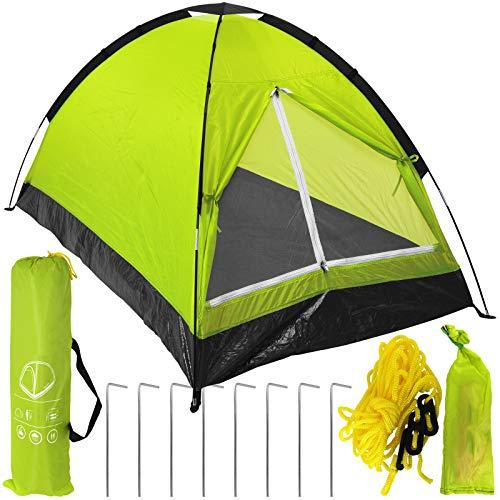 TW24 Zelt für 2 Personen mit Farbwahl Kuppelzelt Campingzelt Festival Trekkingzelt Camping Outdoor Igluzelt (Grün)