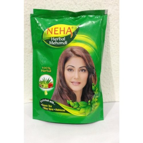 Neha 100% Herbal Mehandi, Natural Henna Hair Color,Enriched with 10 Natural  Herbs Like Green Tea,Aloe Vera,habiscus (55gm)(Ship from India)