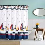 Tissu polyester très épais rideau de douche ajouter à l'automne de plomb étanche/anti-moisissure 180*180cm cloud Surfer la vague du cloud Sail