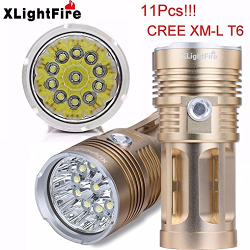 Taschenlampe, bbring xlightfire 25000LM 10x XM-L T6LED Jagd Taschenlampe 4x 18650Lampe Taschenlampe