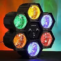 LAMPADA DISCO - 6 spot LED luminosi