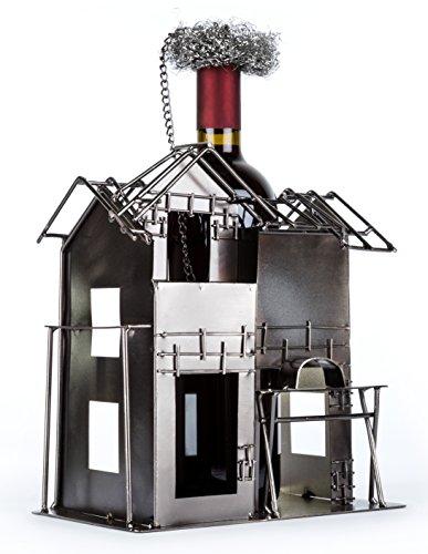Flaschenhalter aus Metall als Geschenkidee für Bauherren oder für Geschenke zum Richtfest...