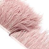 ULTNICE 2M Simulierte Borte Fransen mit Satinband Tape für Kleid Nähen Handwerk Kostüme DIY Dekoration (Pink)