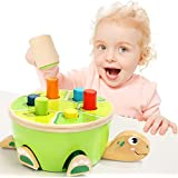 Top Bright Baby Pounding Bench Wooden Hammer Toy Pegs Game for Old Girls Boys