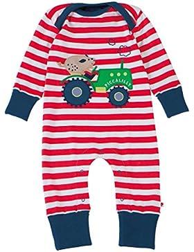 Piccalilly Bio-Baumwolle Rot Baby Jungen Schwein u. Traktor Applizierte Strampler
