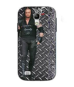 Snazzy Undertaker Printed Black Soft Silicon Back Cover For Samsung Galaxy S4 Mini