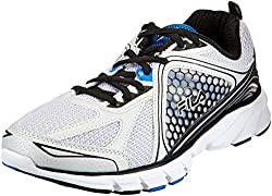 Fila Mens Threshold 3 Metallic Silver, Black and Prince Blue Running Shoes - 9 UK/India (43 EU)