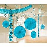 Amscan International 241700–54–55Karibik Blue Room Deko-Set