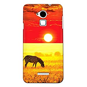 CrazyInk Premium 3D Back Cover for Coolpad Note 3 - Zebra on Sunset