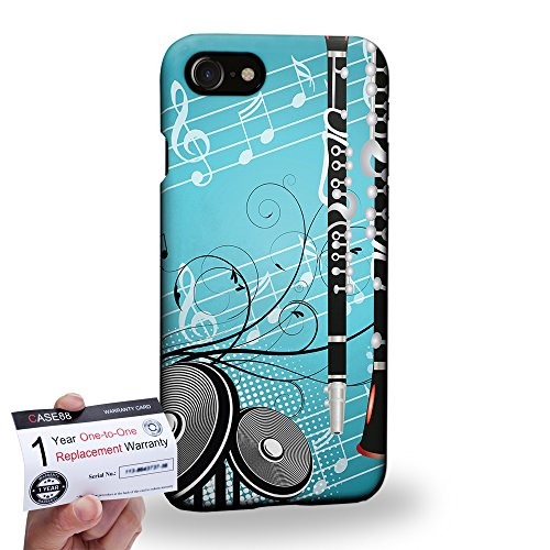 case88-apple-iphone-7-47-3d-hulle-schutzhulle-garantiekarte-musical-instrument-design-clarinet-dse03