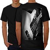 wellcoda Bass Gitarre Jazz Musik Männer XL Ringer T-Shirt