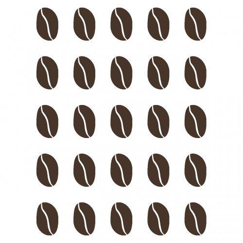 plot4u Wandtattoo Kaffeebohnen Wandtattoo Kaffee Küche in 4 Größen und 19 Farben (15x20cm braun)