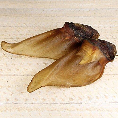 Rinderohren mit Muschel 5 Stück (ca. 300-350g) fettarmer Kausnack für Hunde