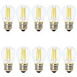 10x LED Lampe E27,Edison Filament Glühbirne,2700K Warmweiß, Ersatz für 30W Glühlampe,Nicht Dimmbar,Tropfenform,AC 220V