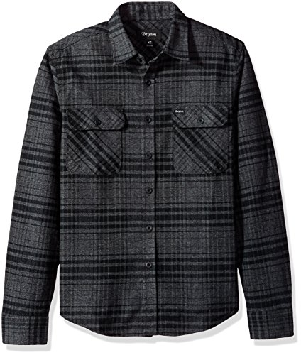 Brixton Herren Apparel Bowery L/S Flannel black/heather charcoal