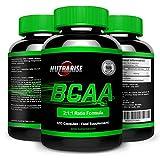 BCAA, verzweigtkettige Aminosäuren, Beste Nahrungsergänzung bei Gewichtsreduktion, Optimale Ernährung für Bodybuilding- & Ausdauertraining, mit Glutamin zur Vorbereitung des Trainings und Erholung, 100% Geld Züruck Garantie, Hergestellt in GB, 40 TageKur, 120 Kapseln