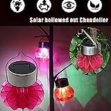[Solarlampe Hängende Gartenlaterne] Außenleuchten LED Gartenlaterne mit 7 Farbwechsel Deko Gartenbeleuchtung Hängende Solarleuchten für Garten Camping Party