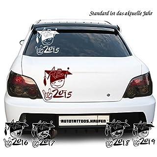 Autoaufkleber Autotattoo Abi Cool Abschluss 2015 2016 2017 2018 2019 Weiß KLEIN