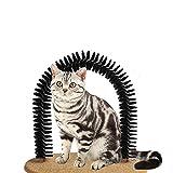 JiChuio Pet Spazzola di Massaggio sfregamento Spazzola Arco Spazzola di Massaggio PVC Morbido del Cane del Gatto casa